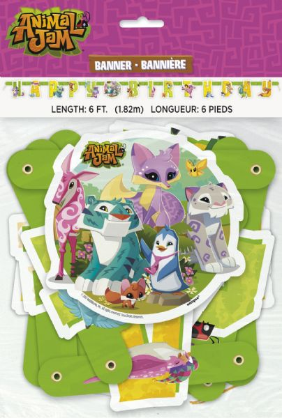 Animal Jam Large Jointed Banner